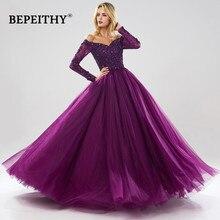 BEPEITHY ארוך שרוולי כדור שמלת ערב שמלות מתוקה Robe דה Soiree ירוק שמלת ערב מסיבת 2020 abendkleider