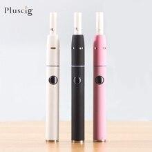 1 2 unids/lote Pluscig V2 palo de calentamiento, vaporizador de tabaco seco sin quemaduras para cigarrillo 1QOS, Cartucho de tabaco VS KeCig 2,0 Plus