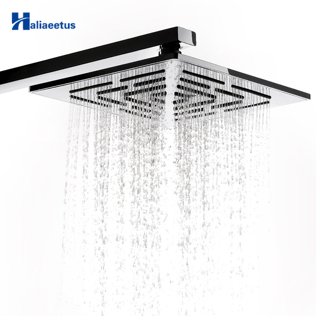 10 Inch (25 CM) Stainless Steel Square Rain Shower Head 400 Holes Water Out