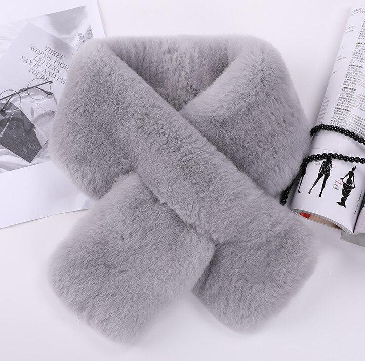 Nouveau Style vraie écharpe de fourrure femmes hiver naturel Rex fourrure de lapin écharpes enveloppe femme avec pompon de fourrure KWA642
