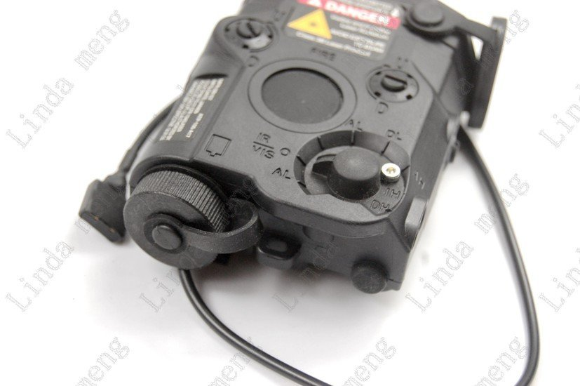 Tactical Red Laser and Led Flashlight Black PEQ-15 ...