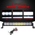 "Partol 7D 22"" 200W LED Light Bar CREE Chips Offroad Led Work Light Driving Lamp Combo Beam Truck SUV Boat ATV 4x4 4WD 12V 24V"