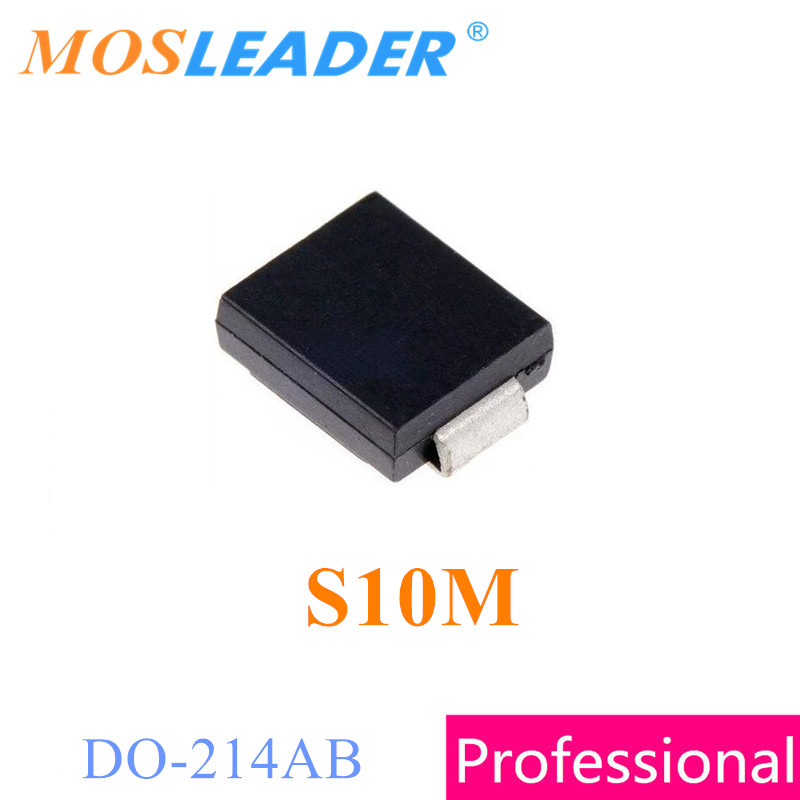 Mosleader S10M SMC 1000PCS DO214AB 10A 1KV 1000V Made in China High quality