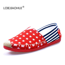 2016 New Trend Girls's Flats Excessive High quality Lazy Loafers Informal Sneakers Spring Summer time Stripe Canvas Boat Sneakers Free Delivery