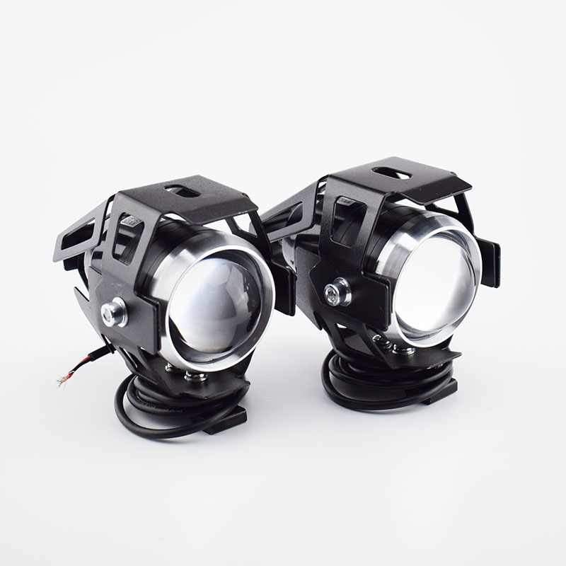 2PCS 125W 12v U5 motorcycle headlights auxiliary working lamp led super brighter motorbike spotlight head lamp spot fog lights