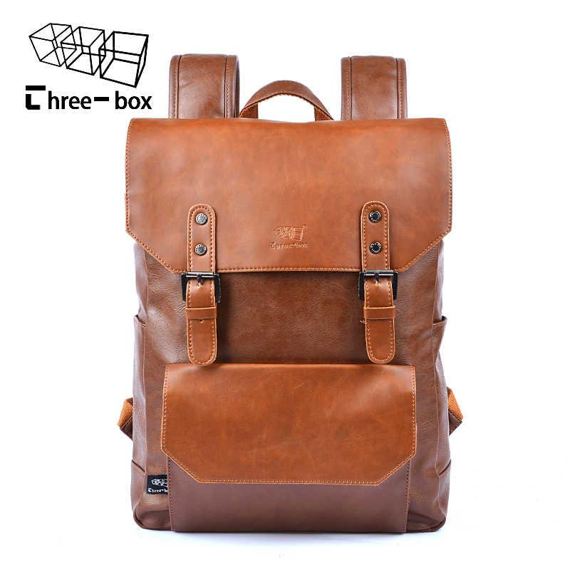 6bb869b275b8 Модный мужской рюкзак Mochila Новое поступление высокого качества Pu  кожаный рюкзак древние способы высокое качество изготовления