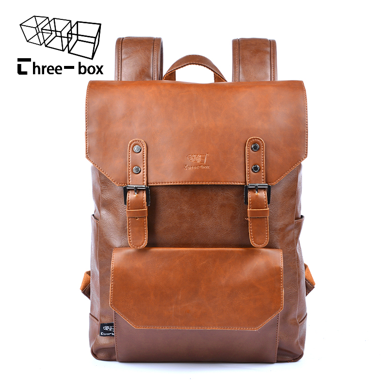 Fashion Male Mochila New Arrival High-grade Pu Leather Backpack Ancient Ways The High Quality Workmanship Student Bag Schoolbag