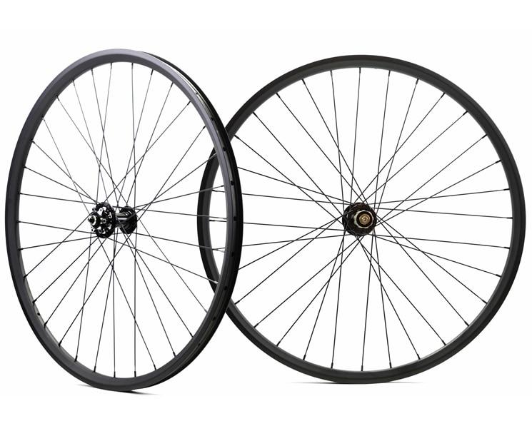 Livraison gratuite 29er VTT sans crochet roues en carbone vélo 27mm largeur 25mm profondeur vtt XC carbone roues avec novatec 791/792