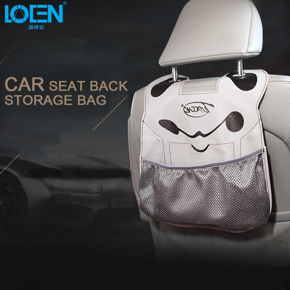 Auto Back Car Seat Organizer Holder Multi-Pocket Travel Storage Hanging Bag Diaper Bag Baby Kids Cute Car Seat Ipad Hanging Bag