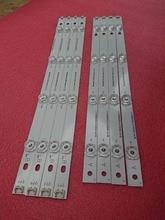 Novo kit 8 pces led strip substituição para lg lc420due 42lf5500 42lb6200 innotek drt 3.0 42 polegada a b 6916l 1957e 6916l 1956e