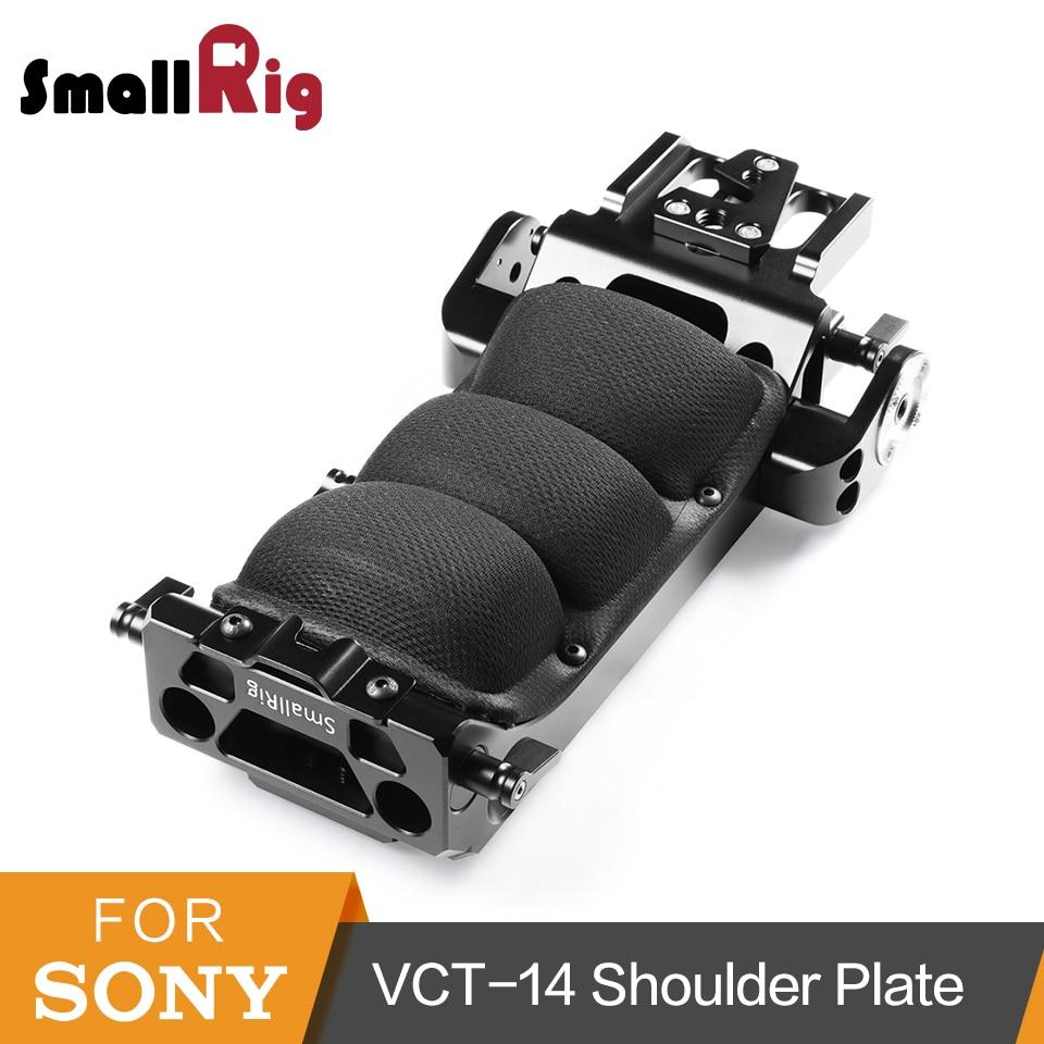 SmallRig pour Sony VCT-14 Quick Release Épaule Plaque pour Sony FS7/FS7II/FS5 Trépied Adaptateur avec ARRI Rosette -1954