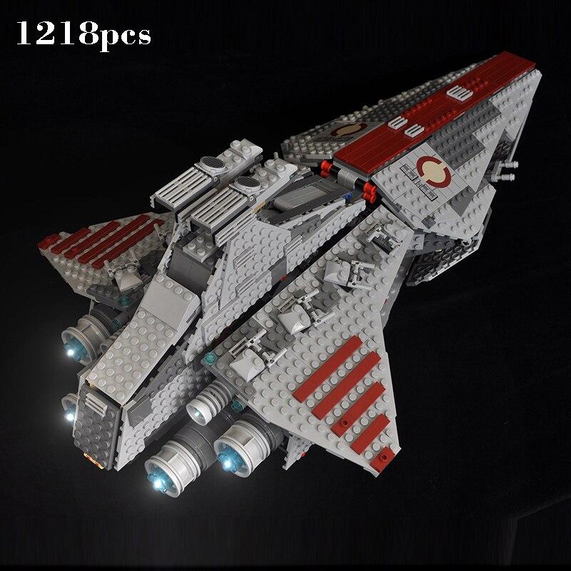 Compatible Legoinglys Star Wars série Venator-classe république attaque Cruiser Lepin 05042 blocs de construction briques jouets cadeau