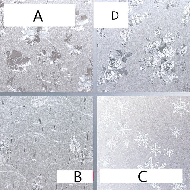 60x100cm static 3d plastic window paper heat insulation sunscreen bathroom toilet window stickers opaque frosted glass