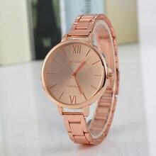 Stainless Steel Women Brand Watches Fashion Silver Rose Gold Women Watch Dress Quartz Wristwatch Reloj Ladies Clock Casual
