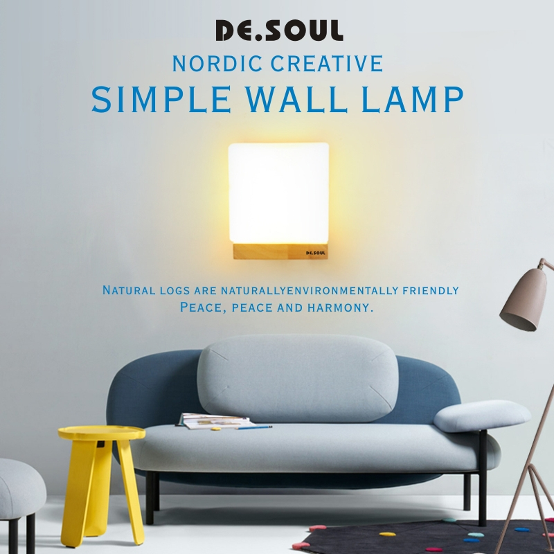 DE.SOUL Wall Lamp Bed Room Wall Mounted Wall Lamps Indoor Modern Sconce Stairs Led Light