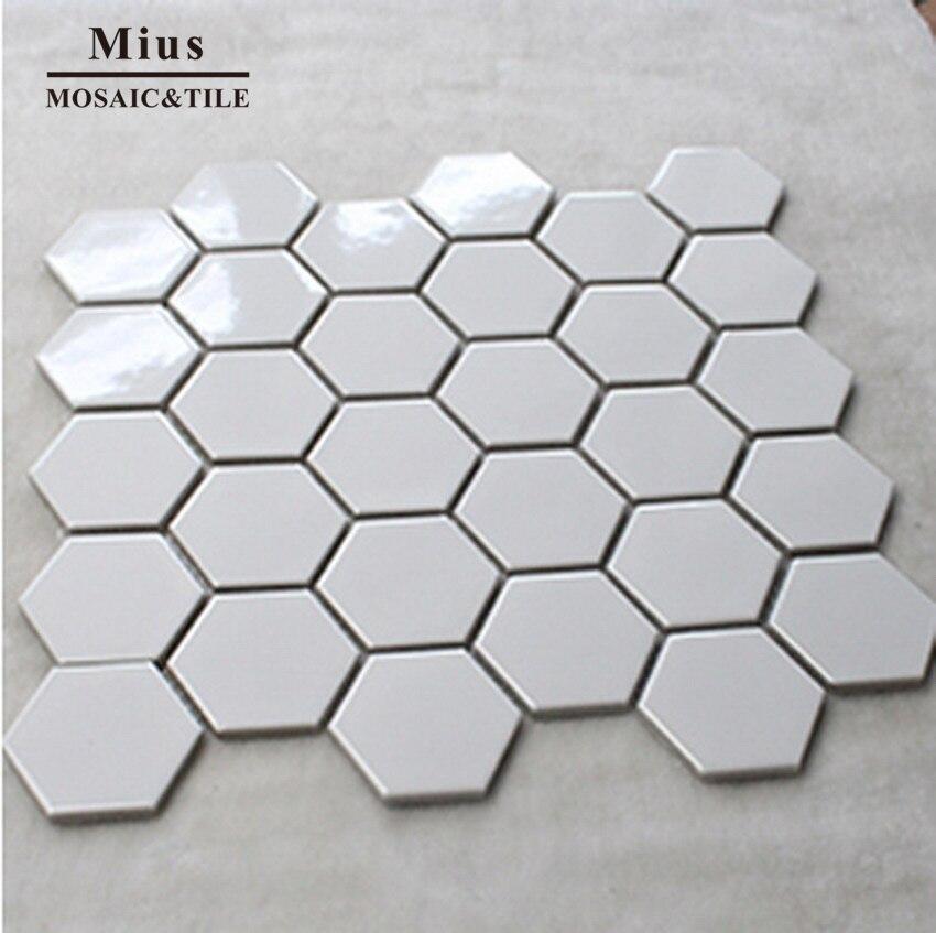 Black & White Ceramic Mosaic Tile Bathroom Design
