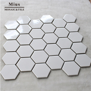 Black & white ceramic mosaic tile bathroom design