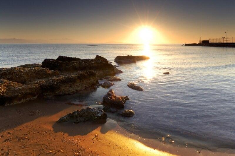 Buy mural sunset shoreline beach for Beach wallpaper mural