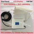 Display LCD! 4G DCS 1800 MHz 2G GSM 900 Mhz Mobile Phone Signal Booster 900 Mhz 1800 Mhz Repetidor de Sinal Kits de amplificador de Antena