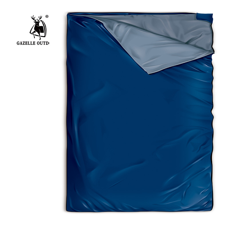 Gazelle Outdoor Double Sleeping Bag 1.9m*1.45m Envelope Spring and Autumn Camping Hiking Portable Sleeping Bags gazelle duck down winter camping adult sleeping bag waterproof three seasons spring autumn winter sleeping gazelle sb13