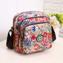 Womens fashion floral messenger bag Rural style  high quality crossbody More zip shoulder Cute warterproof