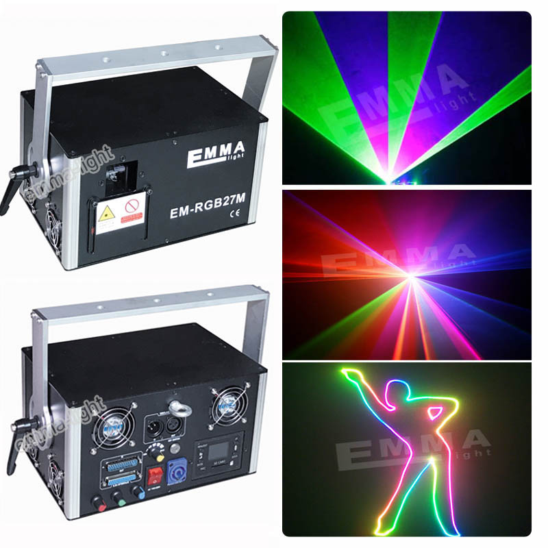 3d Rgb 4000 Mw Dmx 512 Laser Scanner Projector Podiumverlichting Effect Party Xmas Dj Disco Show Lichten Volledige Kleur Licht Fancy Colors