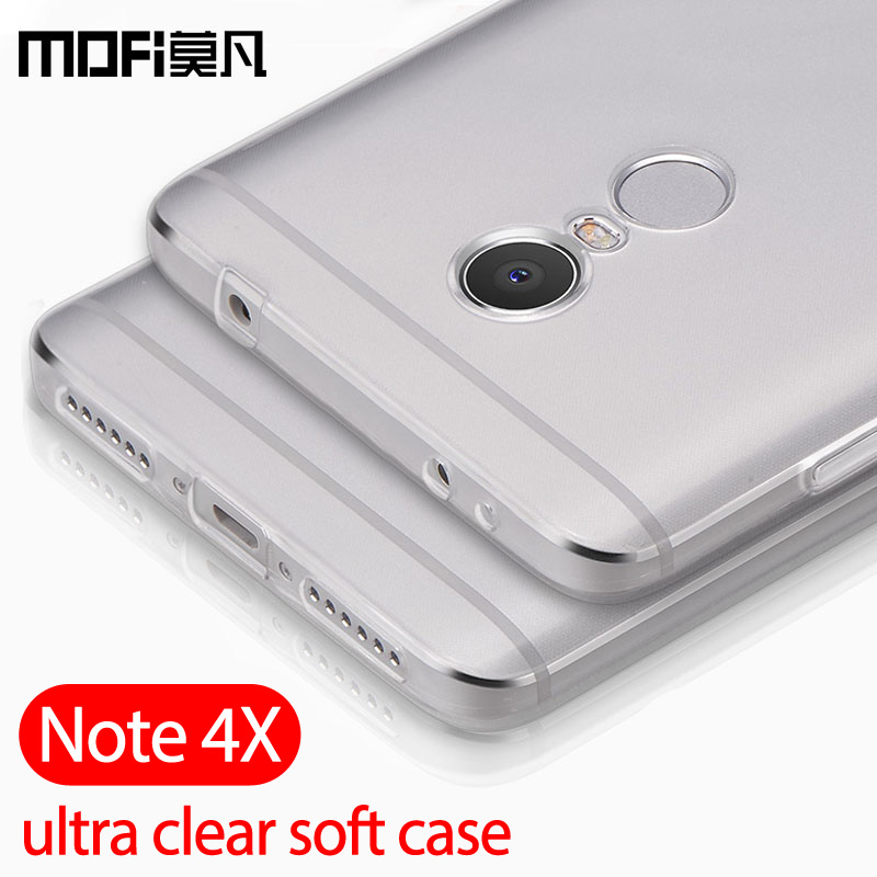 Xiaomi Redmi Note 4X Case Silicone Clear Back Ultra Thin Mofi For Redmi Note 4x Capas