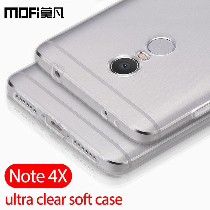 Xiaomi Redmi Note 4X Case Silicone Clear Back Ultra Thin Mofi For Redmi Note 4x Capas