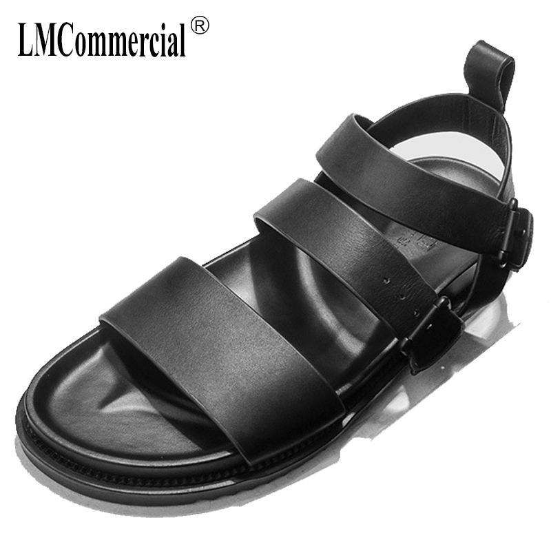 summer men's Rome sandals Sneakers Men Slippers Flip Flops casual Shoes beach outdoor anti-skid cowhide Genuine Leather male 2017 hot sale mens casual sandals summer leather anti skid men flip flops fashion genuine leather outdoor cool slippers original