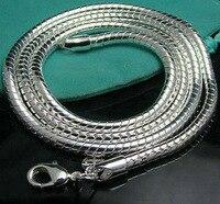 Cn5 4 MM hombres de cadena de serpiente collar, venta al por mayor sortea moda 925 joyas de plata collares y colgantes