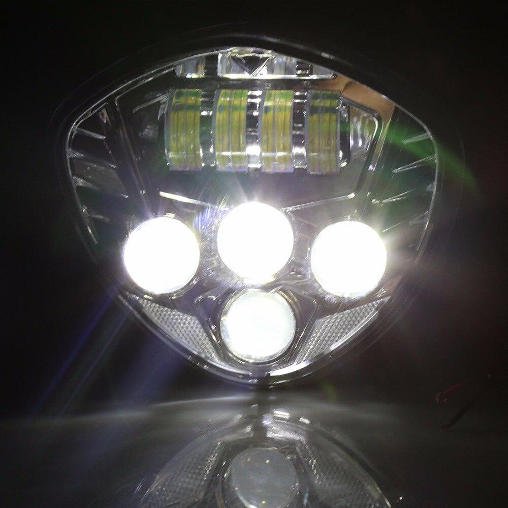 Motorrad 40 Watt Cre LED Scheinwerfer lampe Schwarz H/L Strahl Für Sieg cross land - 6