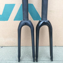 Wholesale prices 1pcs 14″ 3K Carbon Mini Velo Fork 14″ 1 1/8″ Rigid Forks For Minivelo Bike Caliper C Brake Matte/Glossy