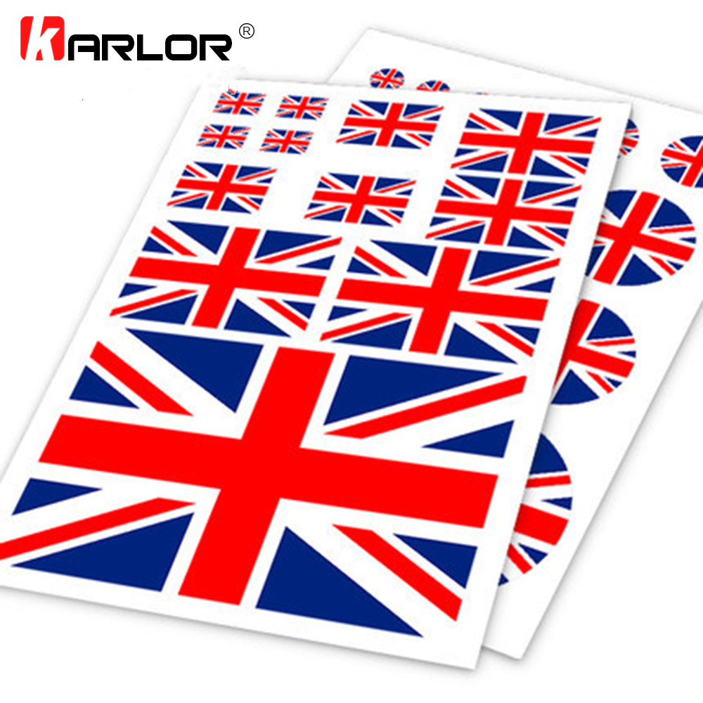 UNITED KINGDOM FLAG DECAL 3M STICKER Various SIZES BRITISH UNION JACK USA MADE