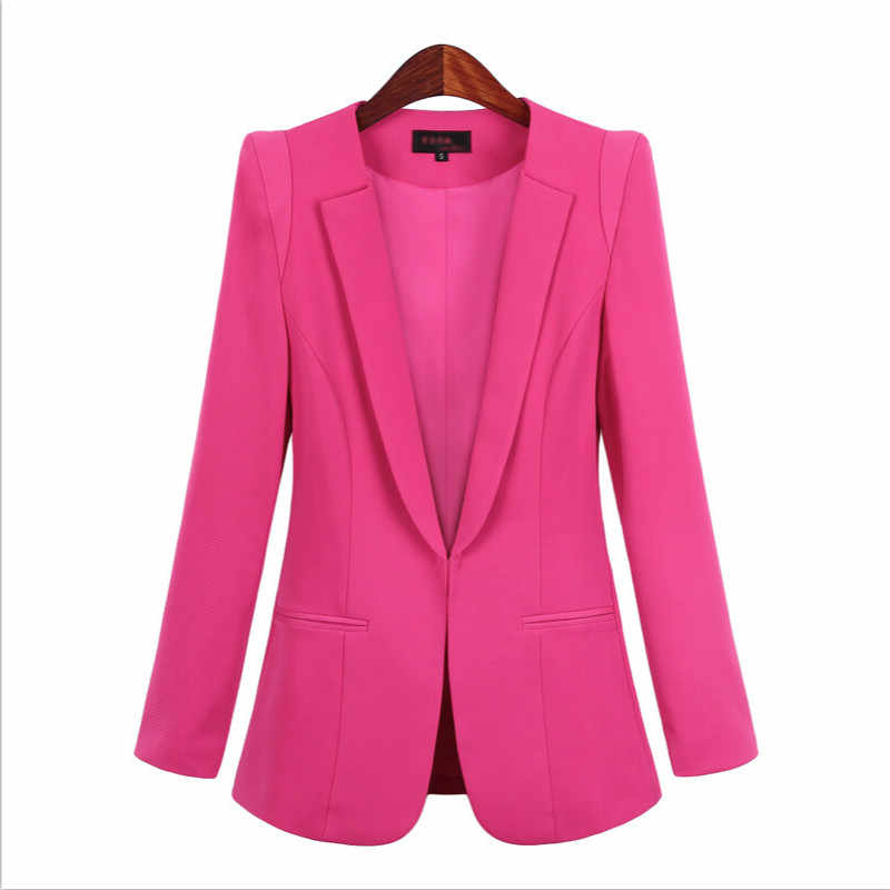 女性のスーツのジャケット 2019 秋の新スリム無地小さなスーツファッションの女性のジャケット 5 色