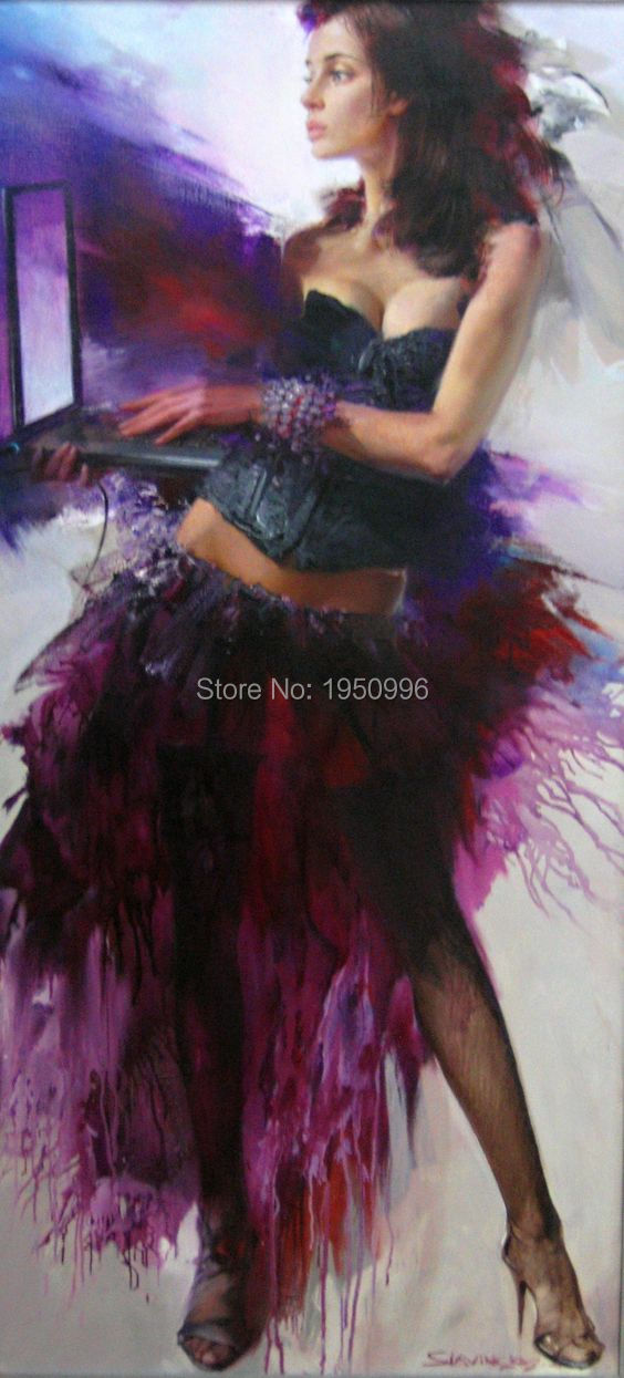 purple handmade oil painting sexy flamenco dancer oil painting dancing girl  sex images painting sexy pictures for decor bedroom