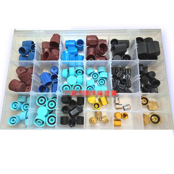 144pc R134AR12 A/C Prevent dust cover high/low pressure Gas mouth valve covers  W014