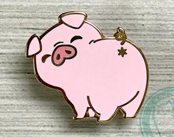 Super Cute Pink Pig Bunda Pino Esmalte Duro Para O Decote No Peito Bolso Presentes