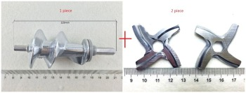 3 piece Free shipping Meat Grinder Screw and blades Mincer Auger MS-0695960 SS-989843 for Moulinex meat grinder parts