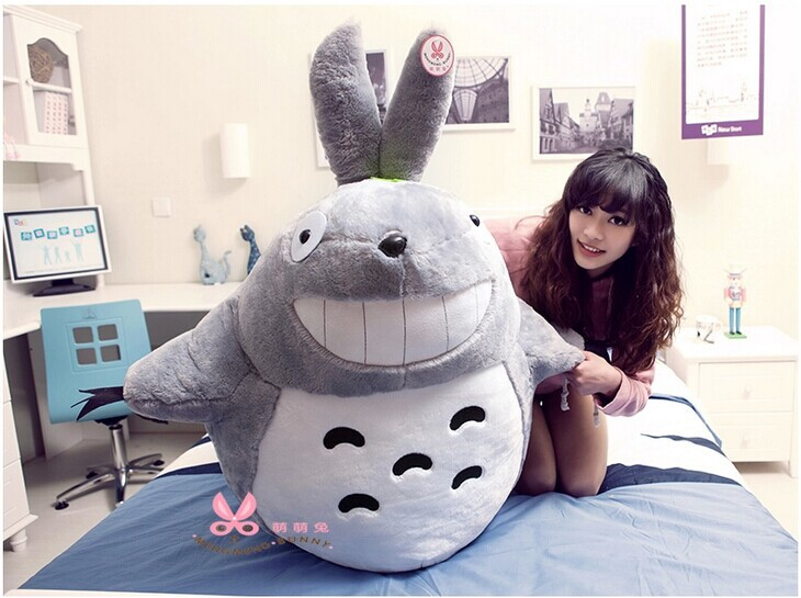 huge 125cm Hayao Miyazaki Totoro plush toy anime doll,stuffing toy, hugging pillow toy gift w2189 miyazaki hayao maiden house will be a small witch kiki doll with a rope car keys ring bell action toy figures hobbies