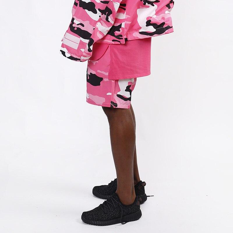 HEYGUYS 2018 Venta caliente rosa amarillo camuflaje men moda sudor  pantalones cortos casuales cintura pantalones 98defca19d0d