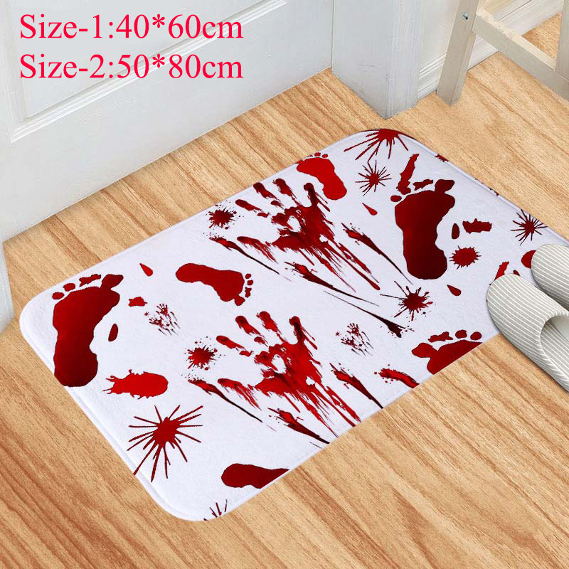 Happy Birthday Title Balloon Bathroom Shower Rug Warm Flannel Carpet Door Mat