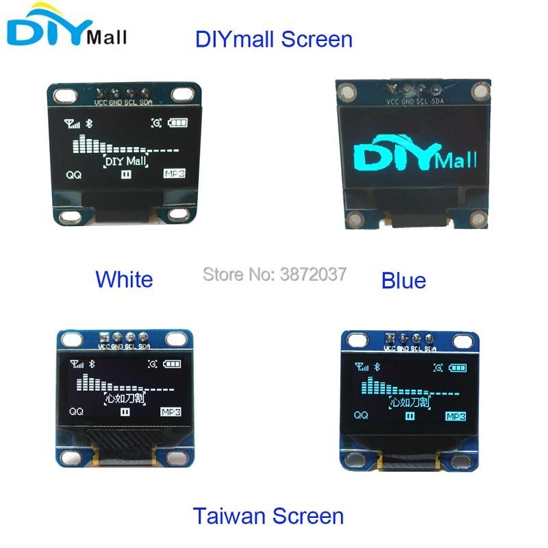 5pcs/lot DIYmall 1.3 1.3inch OLED Display Module LCD Screen 128X64 I2C IIC Serial SSD1306 for Arduino 51 MSP420 STIM32 SCR
