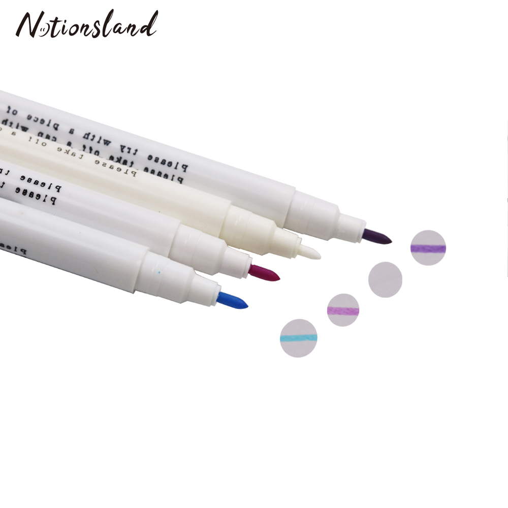 10pcs Water Erasable Pen Water Soluble Pens for Fabric Temporary Marking