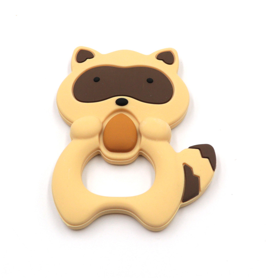 Silicone Teether Squirrel Teething Pendant Necklace Baby Chew Toy G