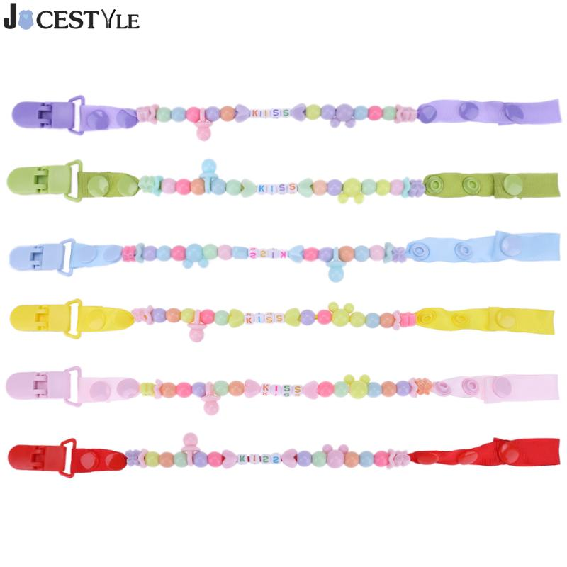 Baby Pacifier Clip Chain Baby Boys Girls Pacifier Clips Newborn Dummy Pacifier Chain Clip Holder Anti-Drop Baby Nipple Feeding
