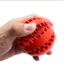 Hot Sale Funny Interactive Rubber Balls Pet Dog Cat Puppy Chew Toys Ball Teeth Chew Toys Tooth Cleaning Balls Food game