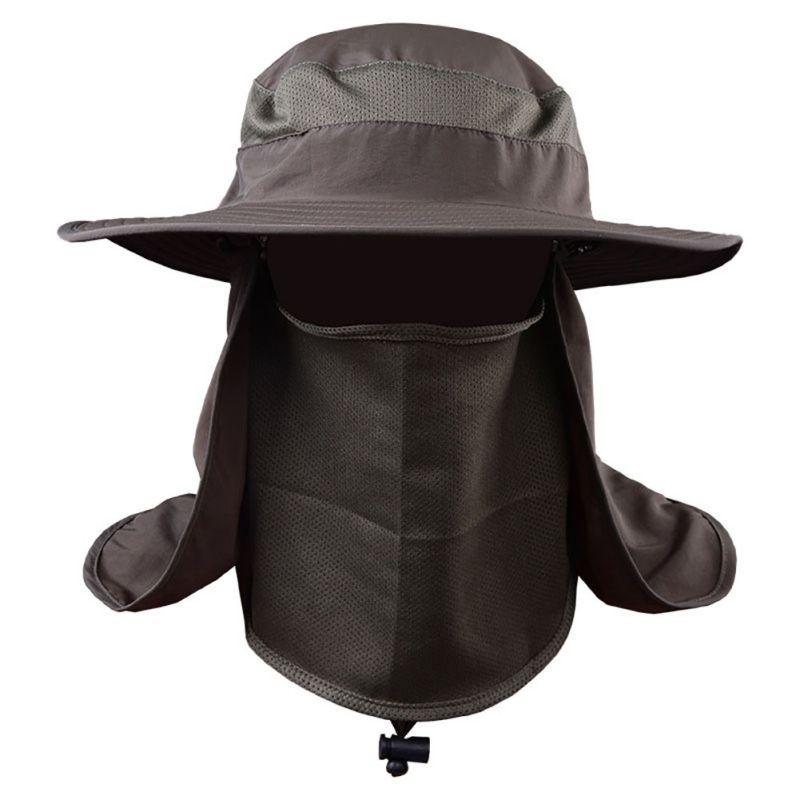 UV Protection Face Neck Flap Sun Cap With Mask Headband Fishing Hiking Sun Rain Hat