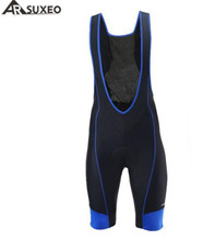 ARSUXEO Cycling Bib Shorts Bike Bicycle Tights Men 4D COOLMAX Pad Jersey Clothes
