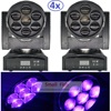 4xLot 100W LED Moving Head Zoom Light Mini 7 15W High Power RGBW 4IN1 Color Mixing