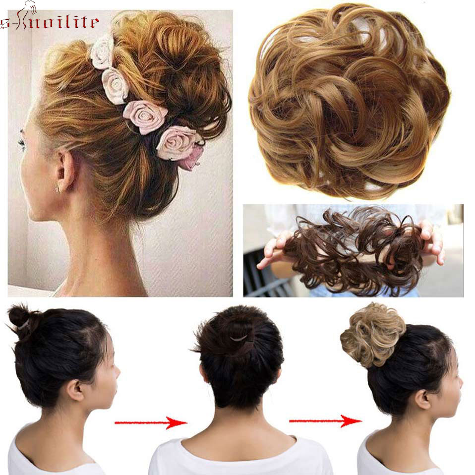 S Noilite 40g Women Chignon With Rubber Band Synthetic Hair